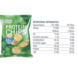 sour cream and onion protein chips nutritional facts