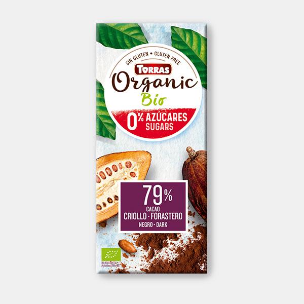 شوكولاتة داكنة عضوية 79% كاكاو